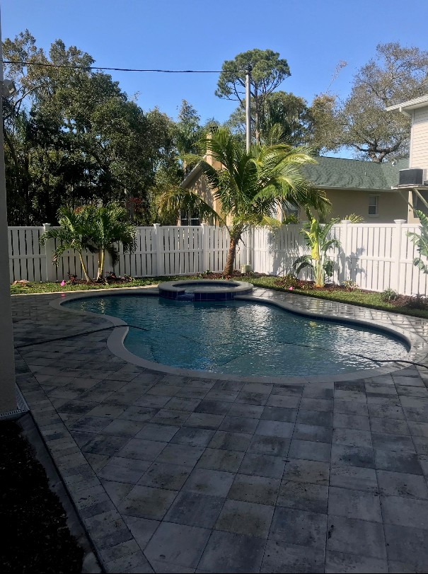 pool & paver landscape project