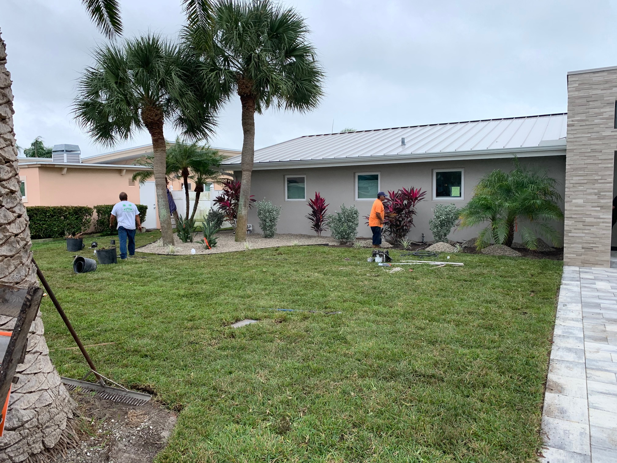 front-entrance landscaping  project