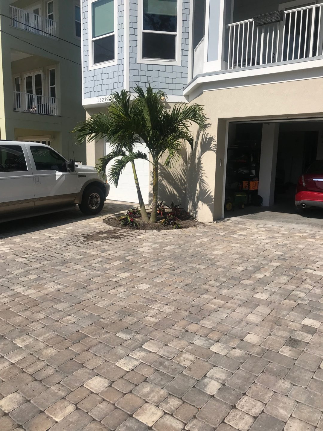 front-entrance paver landscape project